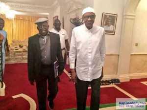 Photos: Buhari Meets Tinubu, Oba Adetona In London